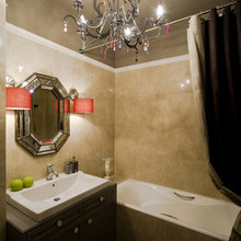 Фотография: Ванная в стиле Кантри, Квартира, Мебель и свет, Дома и квартиры, Подсветка – фото на InMyRoom.ru