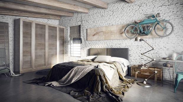 спальня в стиле лофт своими руками фото