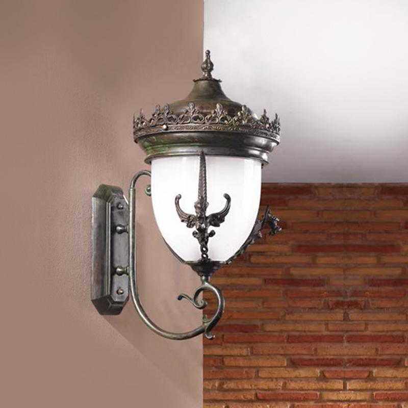 Купить Уличный настенный светильник Arizzi Verdigris с декором в виде узоров из металла, inmyroom, Италия