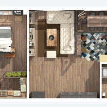 Фотография: Планировки в стиле , Лофт, Квартира, Дома и квартиры, Проект недели, Перепланировка, Переделка – фото на InMyRoom.ru