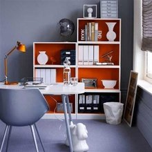 Фотография: Офис в стиле Скандинавский, Современный, Декор интерьера, Дизайн интерьера, Цвет в интерьере, Оранжевый – фото на InMyRoom.ru