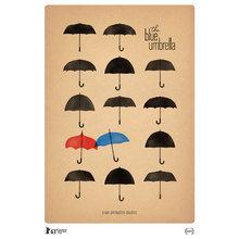 Картина (репродукция, постер): Синий Зонтик (The blue umbrella) №1