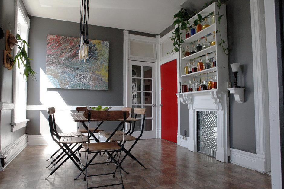 Фотография: Кухня и столовая в стиле Современный, Квартира, США, Дома и квартиры, Библиотека – фото на InMyRoom.ru