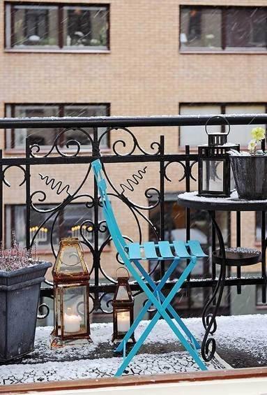 Фотография: Балкон в стиле Прованс и Кантри, Квартира, Швеция, Мебель и свет, Дома и квартиры, Гетеборг – фото на InMyRoom.ru