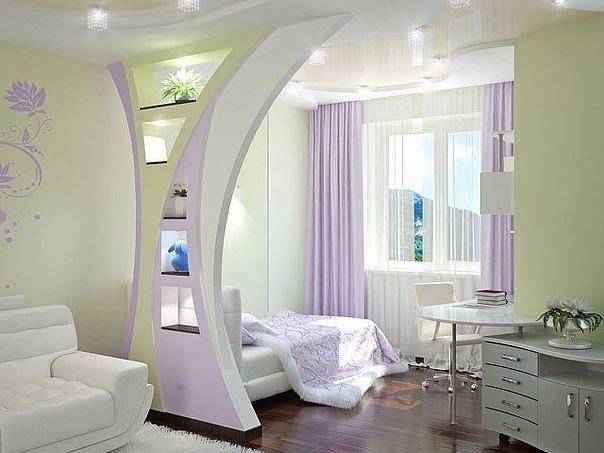 Фотография:  в стиле , Ремонт на практике, как сделать перегородку из гипсокартона, подвесной потолок из гипсокартона – фото на InMyRoom.ru