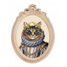 Репродукция гравюры «Мисс Кошка» в раме «Бернадетт»