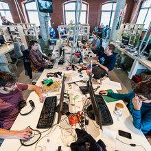 Фотография: Офис в стиле Лофт, Современный, Офисное пространство, Дома и квартиры – фото на InMyRoom.ru
