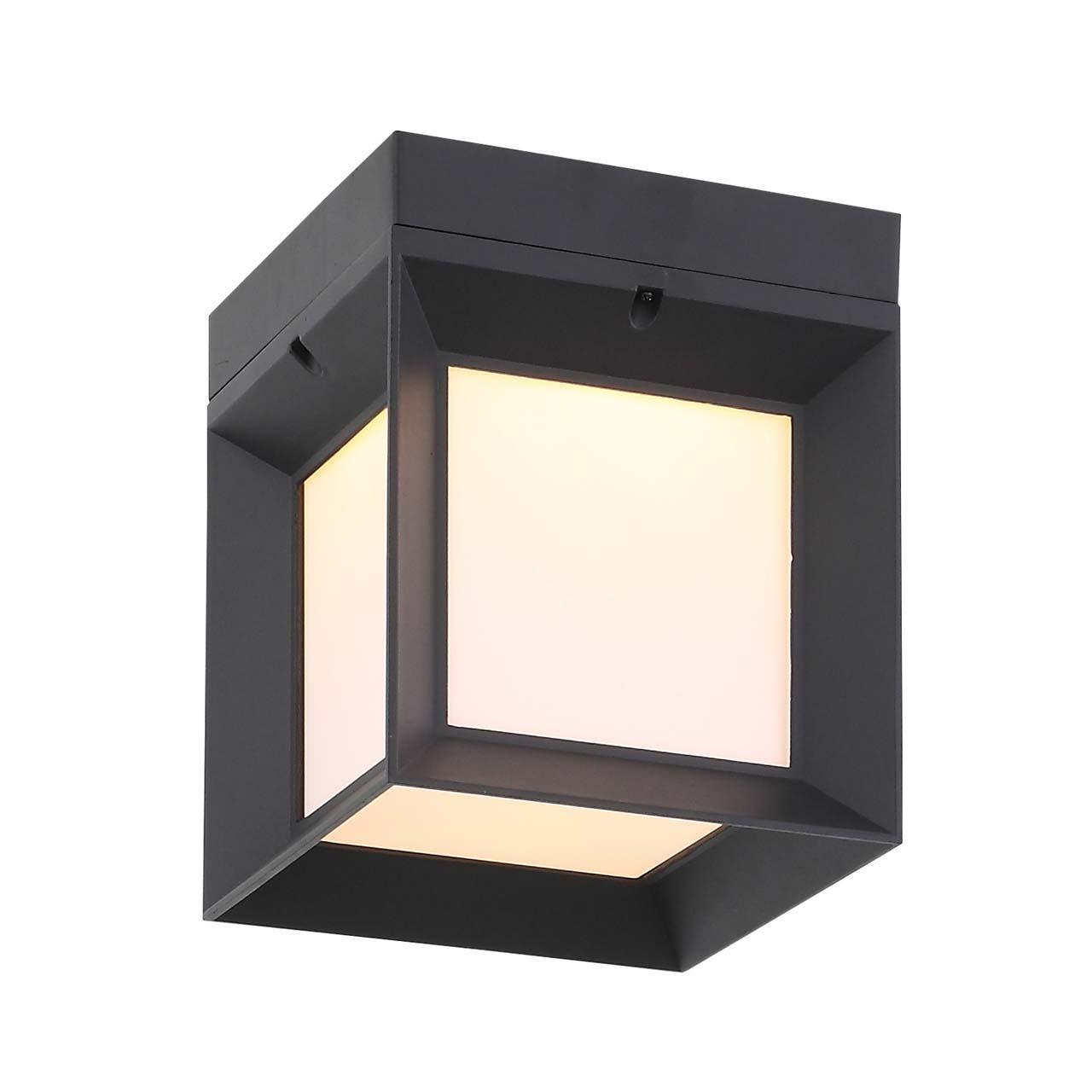 Уличный настенный светодиодный светильник Cubista черного цвета