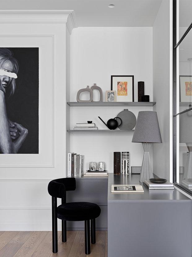 Фотография: Кабинет в стиле Современный, Квартира, Минимализм, Проект недели, Москва, 2 комнаты, 60-90 метров, Elements – фото на INMYROOM