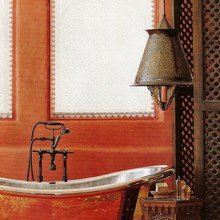 Фотография: Ванная в стиле Восточный, Декор интерьера, Дом, Декор дома, Цвет в интерьере – фото на InMyRoom.ru