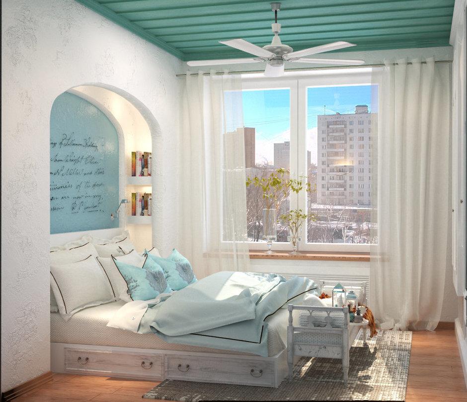Фотография: Спальня в стиле Прованс и Кантри, Восточный, Квартира, Дома и квартиры, Проект недели, Средиземноморский – фото на InMyRoom.ru