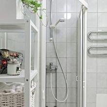 Фотография: Ванная в стиле Скандинавский, Малогабаритная квартира, Квартира, Дома и квартиры, Минимализм – фото на InMyRoom.ru