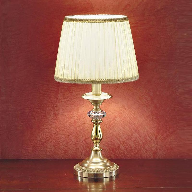 Настольная лампа Zonca с плиссированным текстильным абажуром цвета слоновой кости
