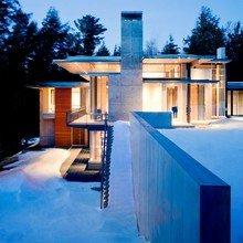 Фото из портфолио Особняк из бетона, стекла и дерева – фотографии дизайна интерьеров на INMYROOM