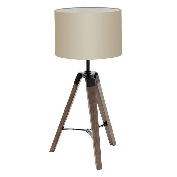 Настольная лампа Lantada с бежевым абажуром