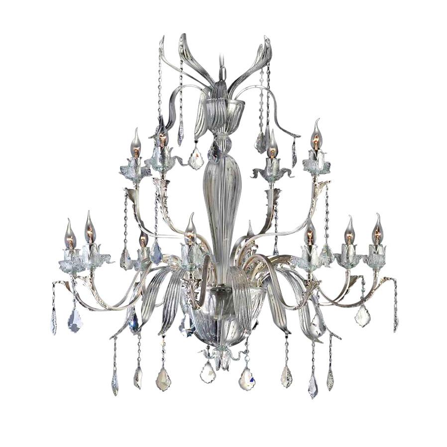 Подвесная люстра il Paralume Marina Genziana с отделкой под состаренное серебро, inmyroom, Италия  - Купить
