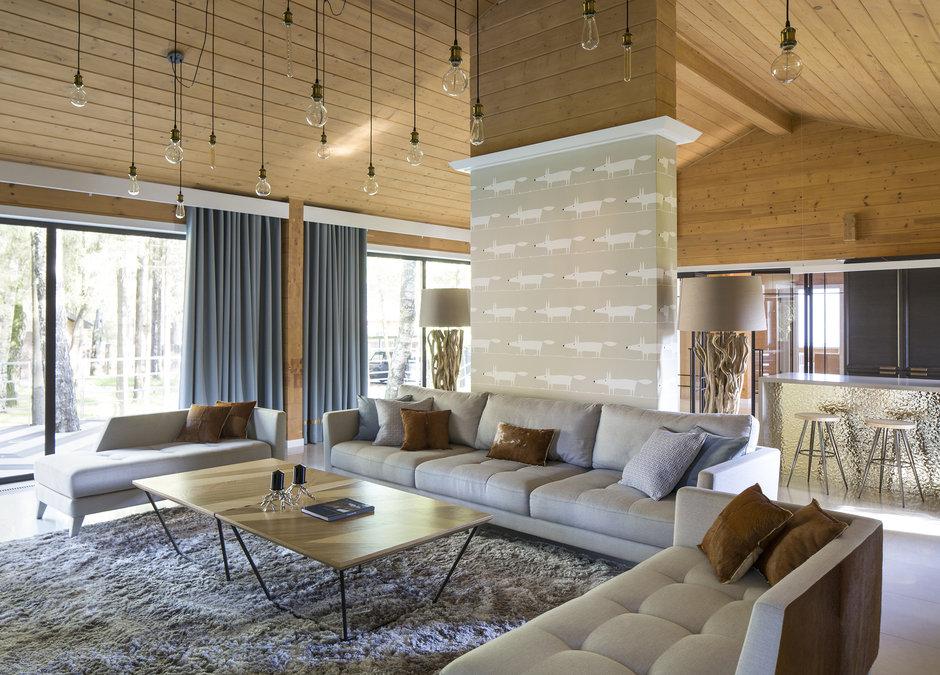 Фотография: Гостиная в стиле Современный, Дом, 4 и больше, Более 90 метров, Студия TS Design, #эксклюзивныепроекты – фото на InMyRoom.ru