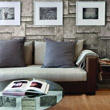 Фотография: Гостиная в стиле Эклектика, Декор интерьера, Декор дома, Обои – фото на InMyRoom.ru
