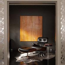 Фотография: Кабинет в стиле Эклектика, Декор интерьера, Декор дома, Цвет в интерьере, Ковер, Геометрия в интерьере – фото на InMyRoom.ru