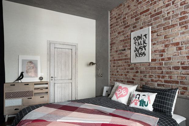 Фотография: Спальня в стиле Лофт, Квартира, Студия, Перепланировка, VizDiz – фото на INMYROOM