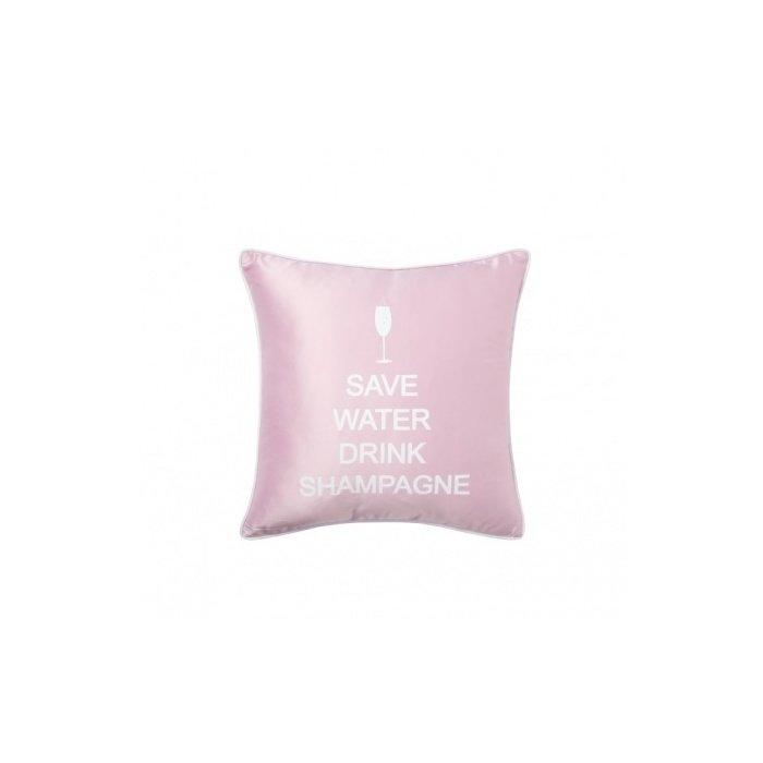 Подушка с надписью Save Water Drink Shampagne