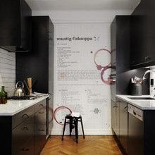 Фотография: Кухня и столовая в стиле Лофт, Современный, Скандинавский, Декор интерьера, Малогабаритная квартира, Квартира, Мебель и свет – фото на InMyRoom.ru