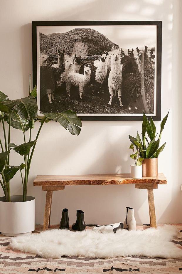Фотография: Прихожая в стиле Эко, Декор интерьера, дерево в интерьере, тренды 2019 – фото на INMYROOM