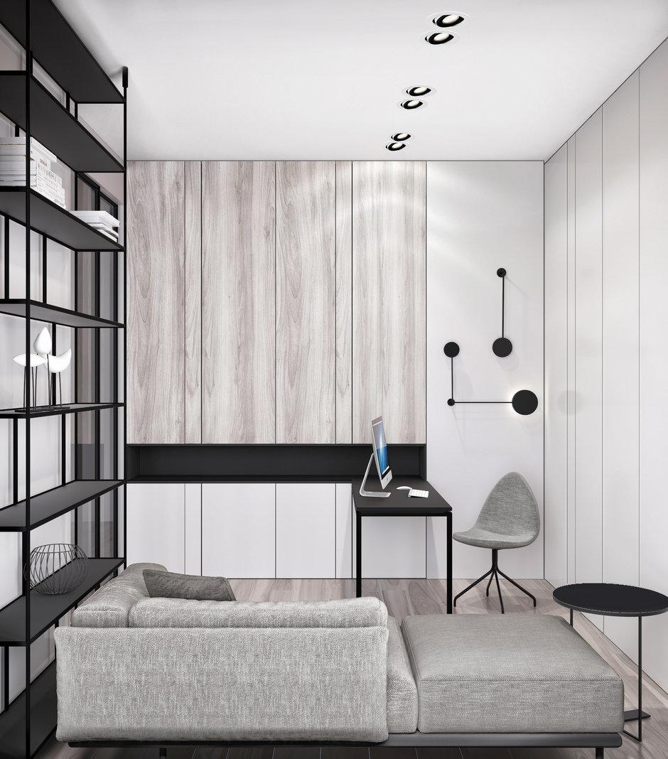 Фотография: Кабинет в стиле Современный, Квартира, Miele, Проект недели, Москва, Quadro room, 4 и больше, Более 90 метров – фото на InMyRoom.ru