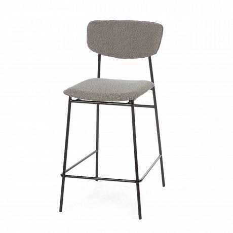 Полубарный стул Madrid серого цвета — купить по цене 10815 руб в Омске | фото, описание, отзывы, артикул IMR-1023444 | Интернет-магазин INMYROOM