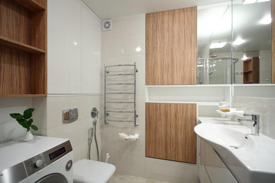 Фотография: Ванная в стиле Современный, Малогабаритная квартира, Квартира, Дома и квартиры, Проект недели – фото на InMyRoom.ru