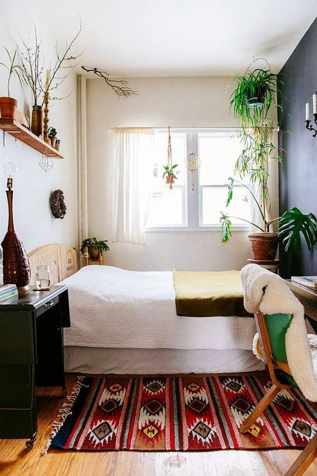 Фотография: Спальня в стиле Скандинавский, Малогабаритная квартира, Советы, Виктория Пашинская – фото на InMyRoom.ru