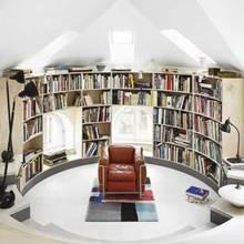 Фотография: Кабинет в стиле Скандинавский, Декор интерьера, Декор дома, Полки, Библиотека – фото на InMyRoom.ru