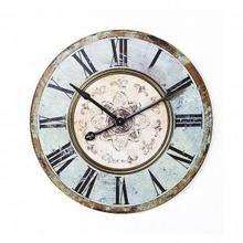 Часы ROUND WOOD WALL CLOCK