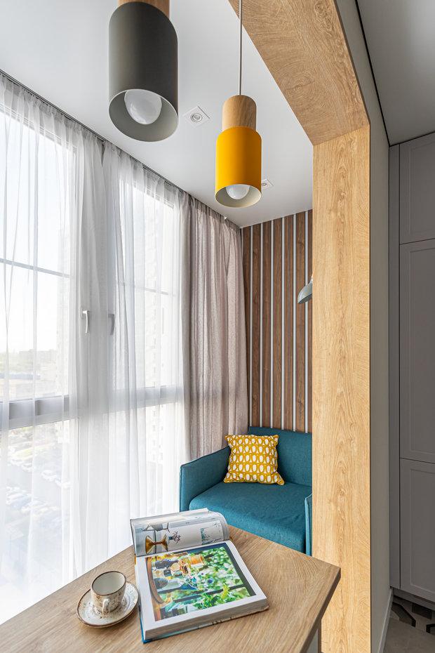 Фотография: Балкон в стиле Современный, Квартира, Проект недели, Москва, 2 комнаты, 40-60 метров, Татьяна Сизова – фото на INMYROOM
