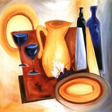 """Модульная картина на холсте """"Композиция с посудой"""""""