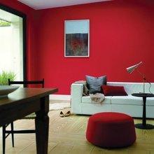 Фотография: Гостиная в стиле Современный, Декор интерьера, Дизайн интерьера, Цвет в интерьере, Красный, Dulux, Розовый – фото на InMyRoom.ru