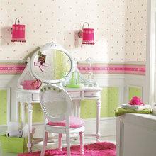 Фотография: Детская в стиле Кантри, Декор интерьера, Дизайн интерьера, Цвет в интерьере, Обои – фото на InMyRoom.ru