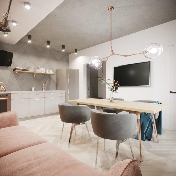 Фото из портфолио LOFT in pastel colour – фотографии дизайна интерьеров на INMYROOM
