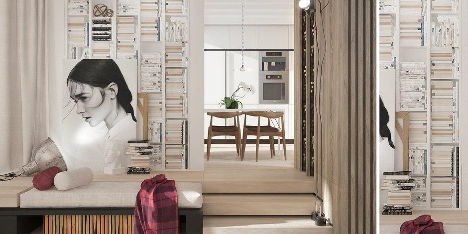 Фотография: Кухня и столовая в стиле Лофт, Современный, Эклектика, Декор интерьера, Квартира, Белый, Проект недели, Бежевый – фото на InMyRoom.ru