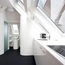 Фотография: Ванная в стиле Минимализм, Малогабаритная квартира, Квартира, Дома и квартиры – фото на InMyRoom.ru
