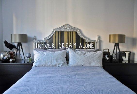 Фотография: Спальня в стиле Современный, Квартира, Цвет в интерьере, Дома и квартиры, IKEA, Лондон, Черный, Поп-арт – фото на InMyRoom.ru