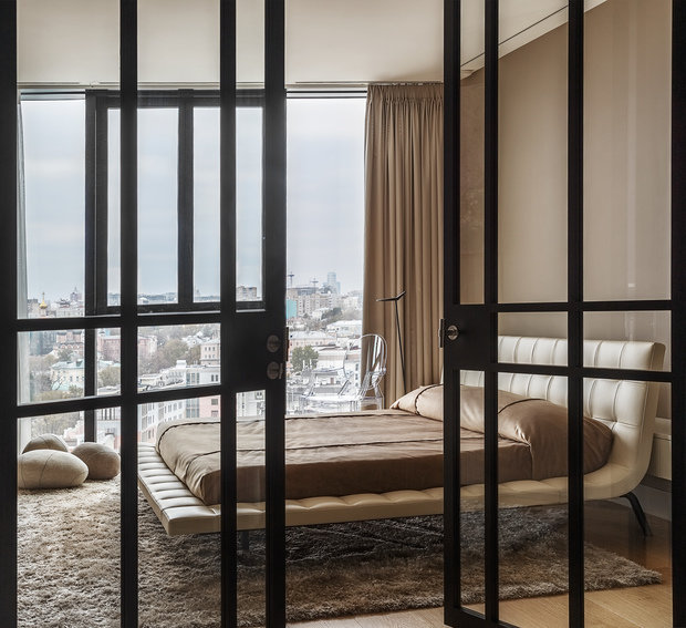 Фотография: Спальня в стиле Хай-тек, Проект недели, Москва, Более 90 метров, #эксклюзивныепроекты, ЖК «Легенда Цветного», Ab-architects – фото на INMYROOM