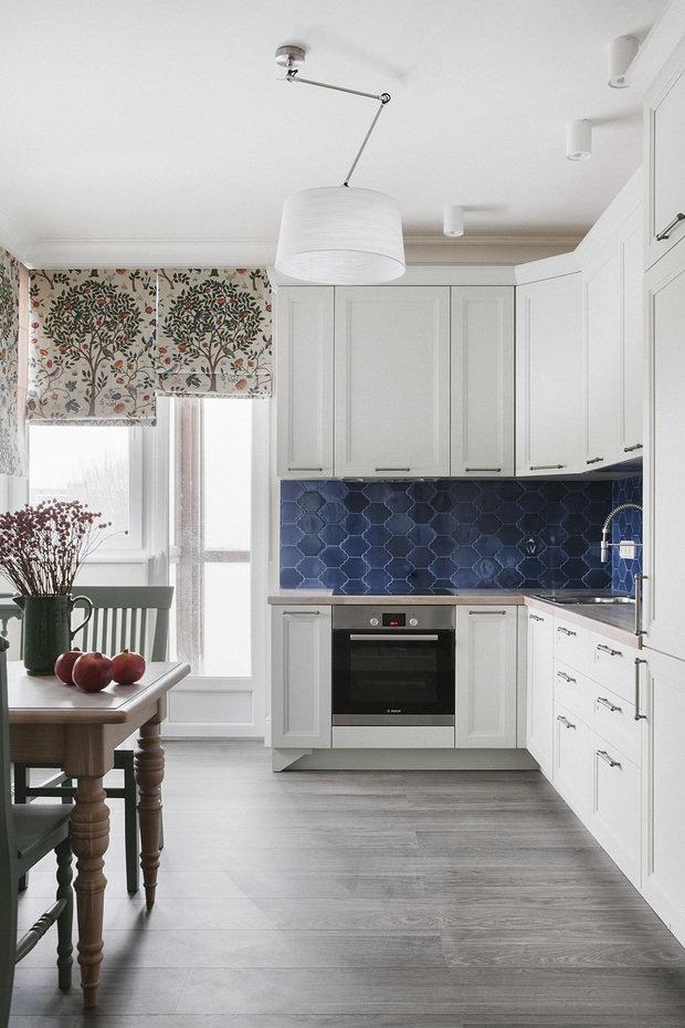Фотография: Кухня и столовая в стиле Классический, Квартира, Проект недели, Химки, Инна Величко, 3 комнаты, 60-90 метров – фото на INMYROOM