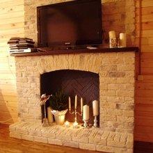 Фотография: Декор в стиле Кантри, Декор интерьера, Мебель и свет, Камин – фото на InMyRoom.ru