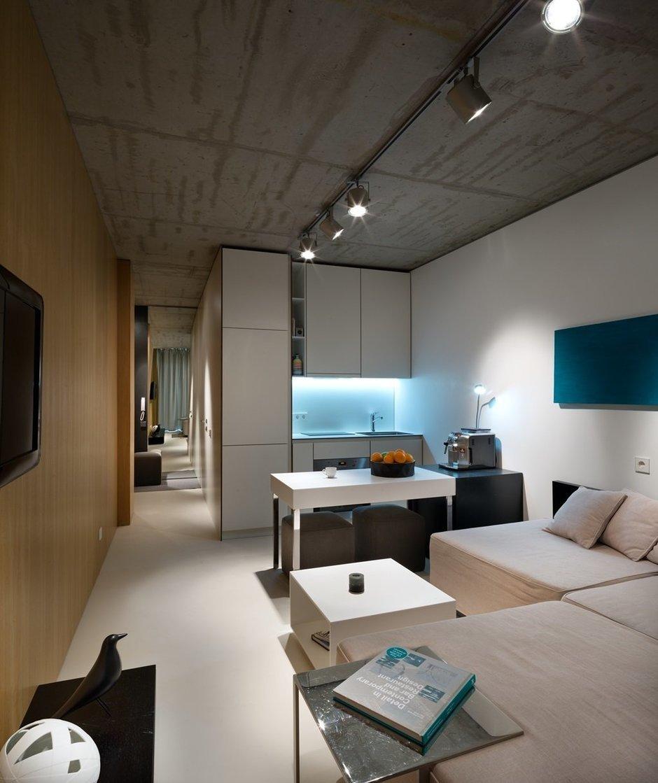 Фотография: Гостиная в стиле Лофт, Малогабаритная квартира, Квартира, Украина, Дома и квартиры – фото на InMyRoom.ru