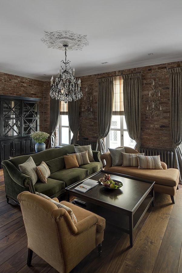 Фотография: Гостиная в стиле Прованс и Кантри, Квартира, Дома и квартиры, Проект недели – фото на InMyRoom.ru