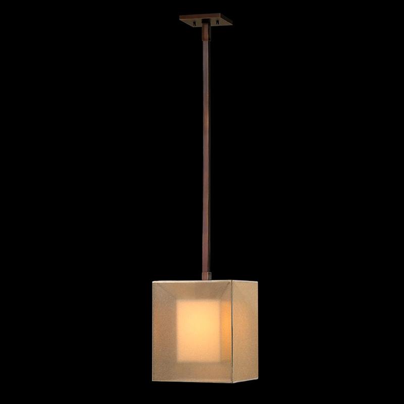 Подвесной светильник Fine Art Lamps Quadralli с абажуром из ткани цвета слоновой кости