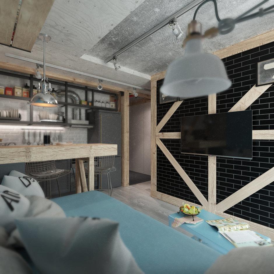 Фотография: Кухня и столовая в стиле Лофт, Квартира, Дома и квартиры, IKEA, Проект недели, Cosmorelax – фото на InMyRoom.ru