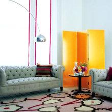 Фотография: Гостиная в стиле Современный, Эклектика, Классический, Декор интерьера, Великобритания, Мебель и свет, Диван – фото на InMyRoom.ru