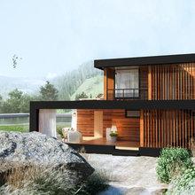 Фото из портфолио Гостевой дом-баня – фотографии дизайна интерьеров на INMYROOM